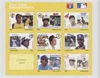 Yellow Set - Roberto Clemente, Cal Ripken Jr., Bob Feller, George Bell, Mark Mc…