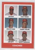 Tony Perez, Tommy Helms, Lee May, Bruce Kimm, Jim Lett, Scott Breeden