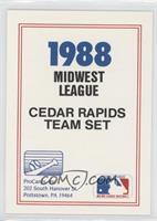 Cedar Rapids Reds Team