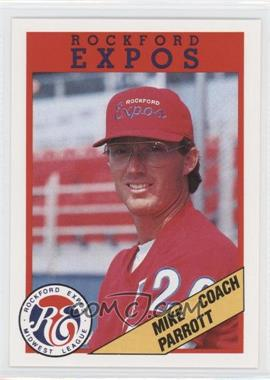 1988 Rockford Magazine Rockford Expos - [Base] #20 - Mike Parrott