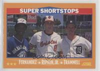 Tony Fernandez, Cal Ripken Jr., Alan Trammell