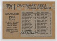 Manager - Pete Rose