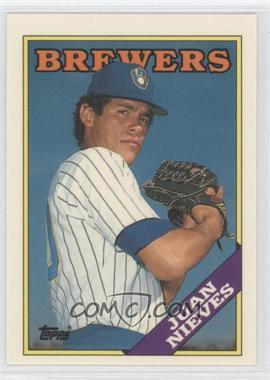 1988 Topps - [Base] - Box Set Collector's Edition (Tiffany) #515 - Juan Nieves