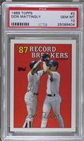 '87 Record Breakers - Don Mattingly [PSA10]
