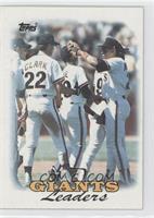 1987 Team Leaders - San Francisco Giants