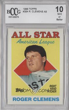 1988 Topps - [Base] #394 - All Star - Roger Clemens [ENCASED]
