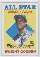 All Star - Dwight Gooden (R in Star on Front Has Blue Filled In)