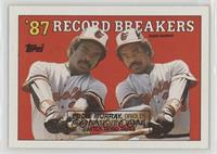 '87 Record Breakers - Eddie Murray (Black Box on Front)