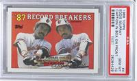 '87 Record Breakers - Eddie Murray (Corrected: Black Box on Front) [PSA 10]