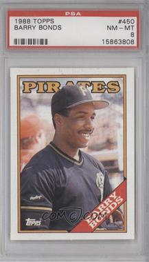1988 Topps - [Base] #450 - Barry Bonds [PSA8]