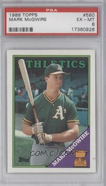 1988 Topps Base 580 Topps All Star Rookie Mark Mcgwire Psa