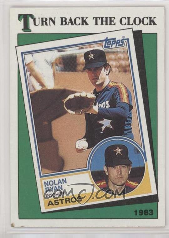 1988 Topps Base 661 Turn Back The Clock 1983 Nolan Ryan