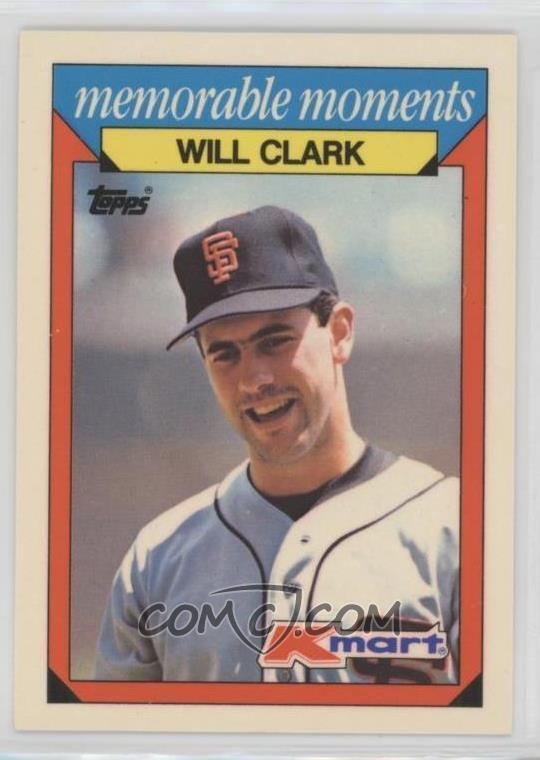 1988 Topps Kmart Memorable Moments Base 6 Will Clark