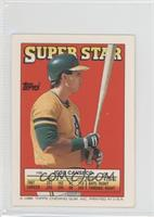1988 Topps Super Star Sticker Back Cards Jose Canseco