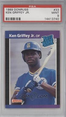 1989 Donruss - [Base] #33 - Ken Griffey Jr. [PSA 9]