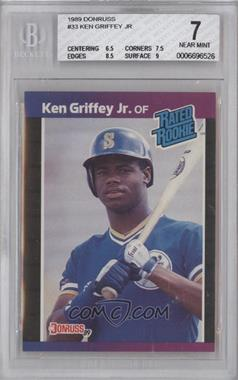 1989 Donruss - [Base] #33 - Ken Griffey Jr. [BGS7]