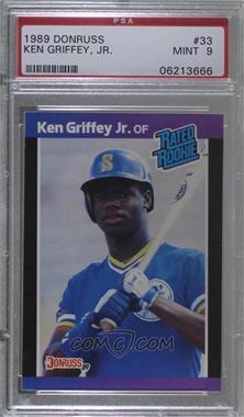 1989 Donruss - [Base] #33.1 - Ken Griffey Jr. (*Denotes*  Next to PERFORMANCE) [PSA9MINT]