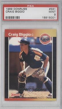1989 Donruss - [Base] #561 - Craig Biggio [PSA9]
