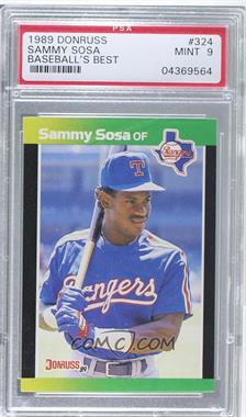 1989 Donruss Baseball's Best - Box Set [Base] #324 - Sammy Sosa [PSA 9]