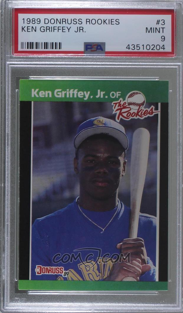 1989 Donruss The Rookies Box Set Base 3 Ken Griffey