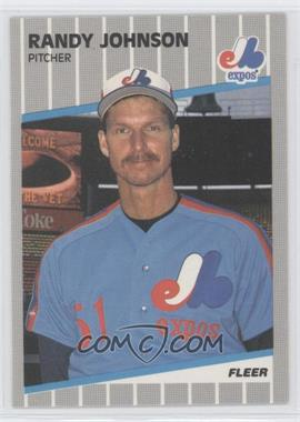 1989 Fleer - [Base] #381.11 - Randy Johnson (Completely Blacked Out Billboard)