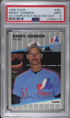 1989 Fleer - [Base] #381.11 - Randy Johnson (Completely Blacked Out Billboard) [PSA9MINT]