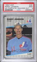 Randy Johnson (Completely Blacked Out Billboard) [PSA 9 MINT]