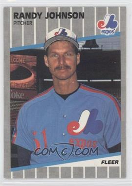 1989 Fleer - [Base] #381.9 - Randy Johnson (Black Box on Billboard)