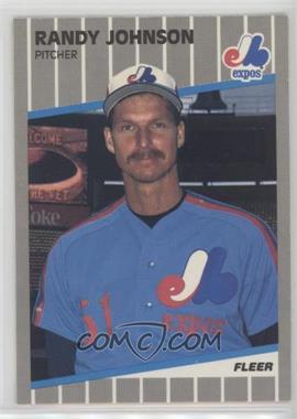 1989 Fleer - [Base] #381.9 - Randy Johnson (Black Box on Billboard)