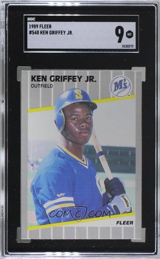 7d438cc2b5 Zoom · Report Error. 1989 Fleer - [Base] #548 - Ken Griffey Jr. [SGC 9