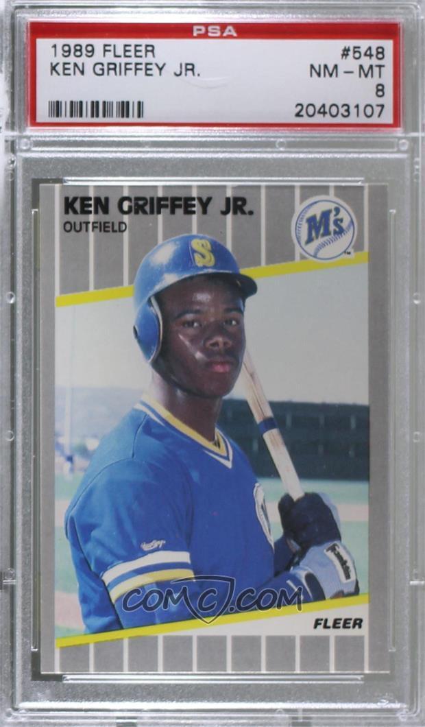 5a8e5701b3 Zoom · Report Error. 1989 Fleer - [Base] #548 - Ken Griffey Jr. ...