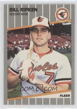 1989 Fleer - [Base] #616.1 - Bill Ripken (FF on Bat Knob)