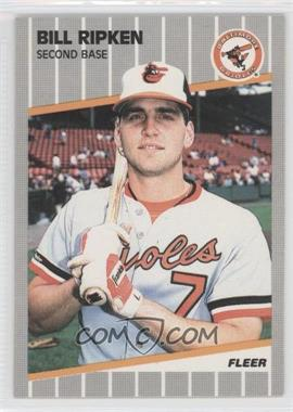 1989 Fleer - [Base] #616.4 - Bill Ripken (Black Scribble on Bat Knob)