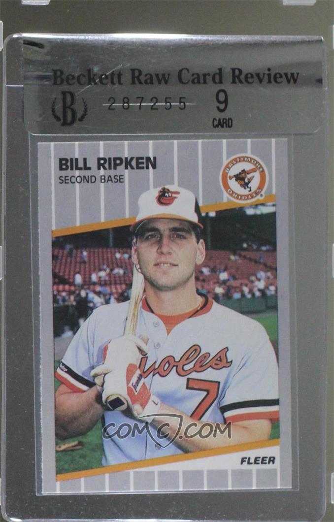 1989 Fleer Base 6165 Bill Ripken Black Box On Bat Knob
