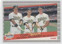 Jose Canseco, Terry Steinbach, Mark McGwire (Jose Canseco, Terry Steinbach, Mar…
