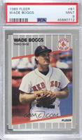 Wade Boggs (Black mark on back Next to Throws: Right) [PSA 9 MINT]