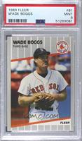 Wade Boggs (Black mark on back Next to Throws: Right) [PSA9MINT]