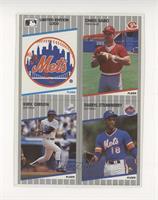 New York Mets Logo, Chris Sabo, Kirk Gibson, Darryl Strawberry [Goodto&nb…
