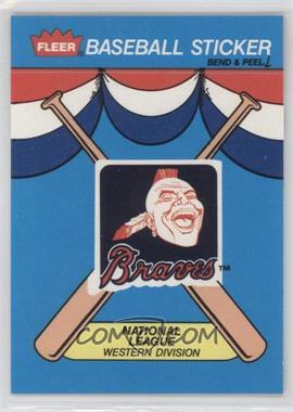 1989 Fleer - Team Stickers Inserts #ATL - Atlanta Braves - Courtesy of COMC.com