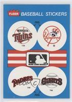 Minnesota Twins Team, New York Yankees Team, San Diego Padres Team, San Francis…