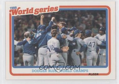 1989 Fleer - World Series #12 - Los Angeles Dodgers Team