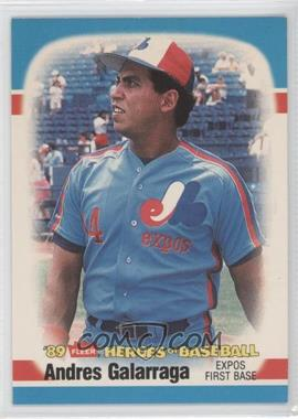 1989 Fleer Heroes of Baseball - Box Set [Base] #16 - Andres Galarraga