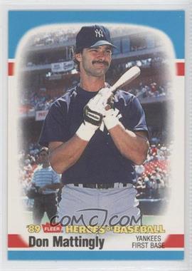 1989 Fleer Heroes of Baseball - Box Set [Base] #26 - Don Mattingly