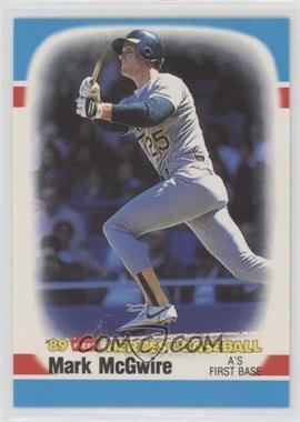 1989 Fleer Heroes of Baseball - Box Set [Base] #28 - Mark McGwire
