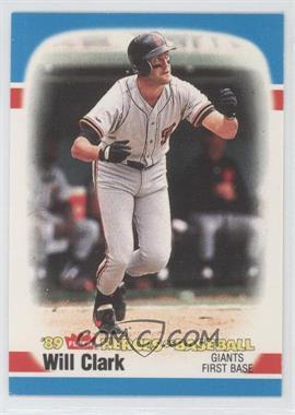 1989 Fleer Heroes of Baseball - Box Set [Base] #7 - Will Clark