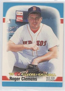 1989 Fleer Heroes of Baseball - Box Set [Base] #8 - Roger Clemens
