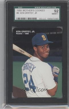 1989 Mother's Cookies Ken Griffey Jr. - [Base] #4 - Ken Griffey Jr. [SGC 92]