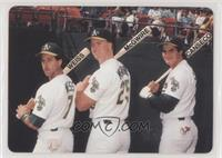 Walt Weiss, Mark McGwire, Jose Canseco