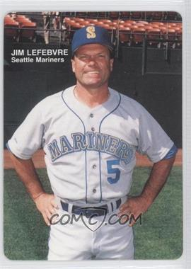 1989 Mother's Cookies Seattle Mariners - Stadium Giveaway [Base] #1 - Jim Lefebvre
