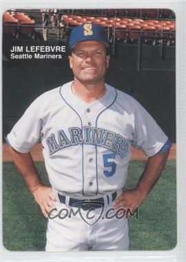 1989 Mother's Cookies Seattle Mariners - Stadium Giveaway [Base] #1 - Jim Lewis